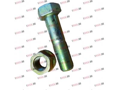 Болт крепления прямой реактивной тяги короткий H2/H3 HOWO (ХОВО) 190003803974